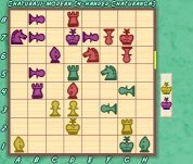 Eurasia-Chess: Chaturanga/Chaturaji ZRF for Zillions : sample play