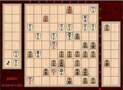 Eurasia-Chess: westernized Shogi ZRF for Zillions