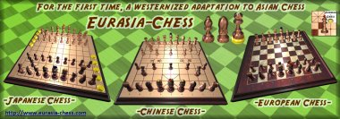 For the first time, a Westernized adaptation to Asian Chess (Chinese/XiangQi & Japanese/Shogi)