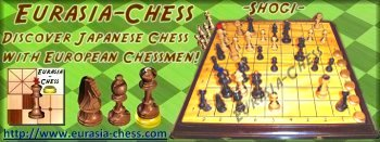 Discover Shogi with a westernized chessmen set
