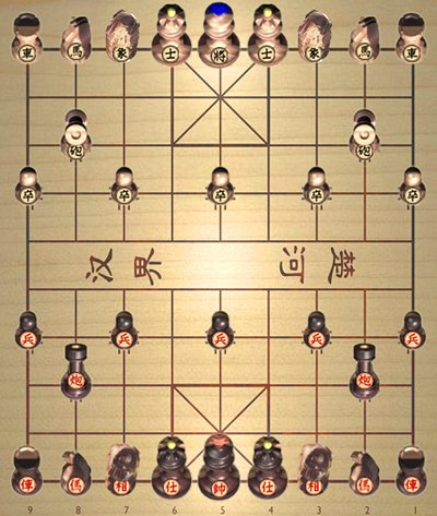 EurasiaChess Xiangqi chessmen 3D with HOXChess
